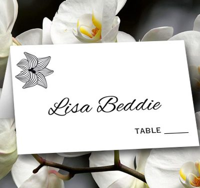 Black Floral- Placecards