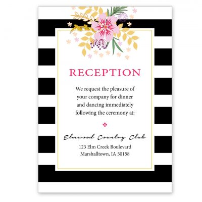 BlkPinkFloralReception
