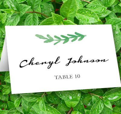 GrnLeavePlaceCards