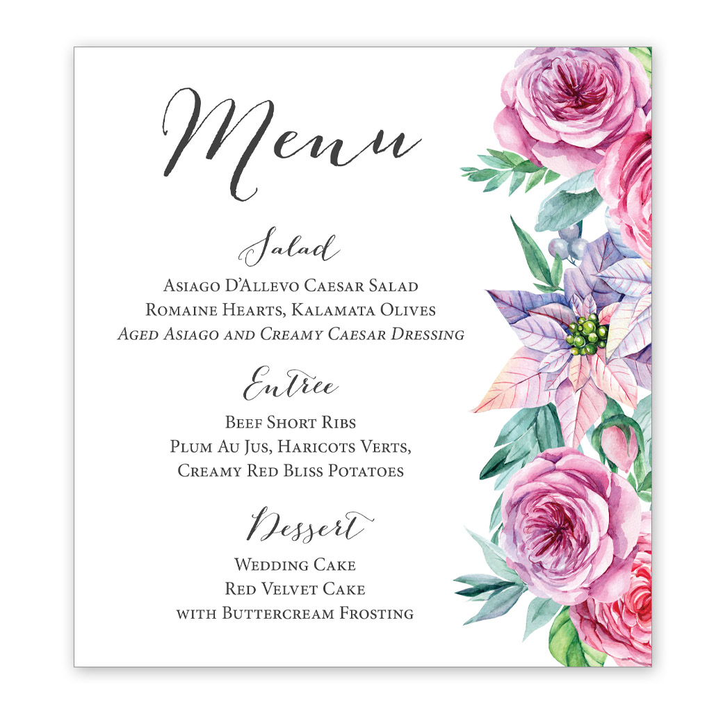 Rose Garden Wedding Invitation | PGB Wedding Creations