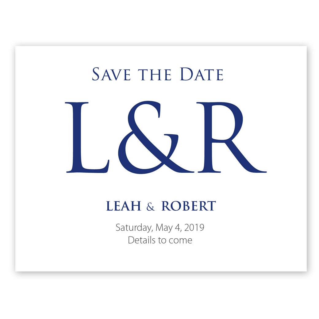Navy Monogram Collection Save The Date Pgb Wedding Creations