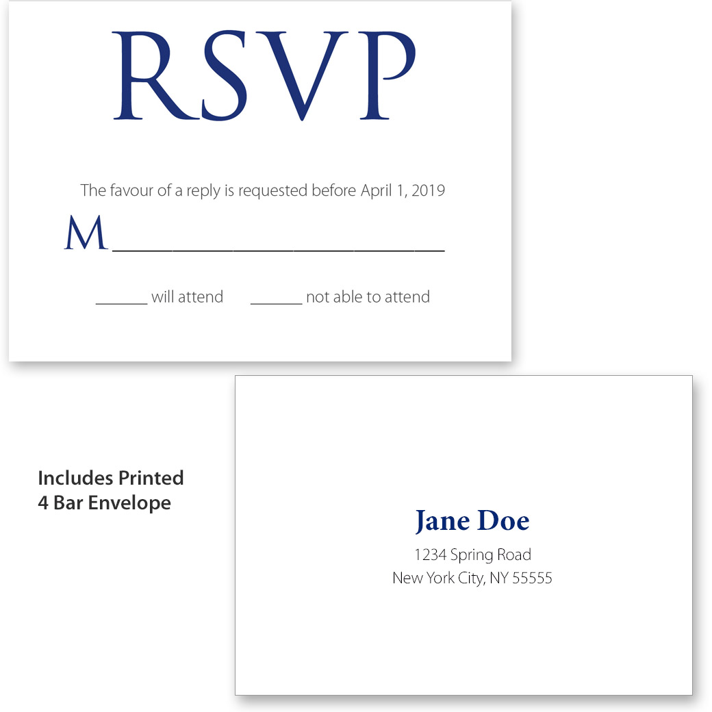 Navy Monogram Collection Rsvp Pgb Wedding Creations